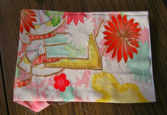 kimono fabric - flowers